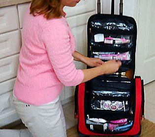 As Is Weekender Bag With Snap In Toiletry Case By Lori Greiner