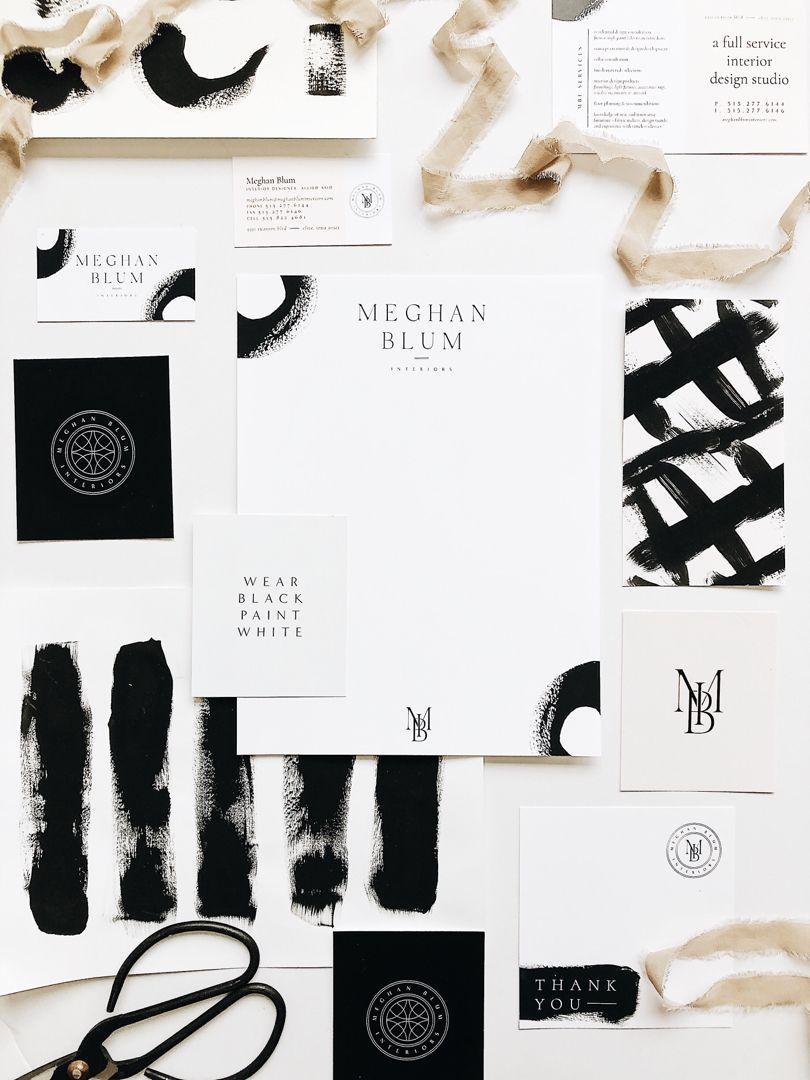 Elegant black and white branding design for a high end