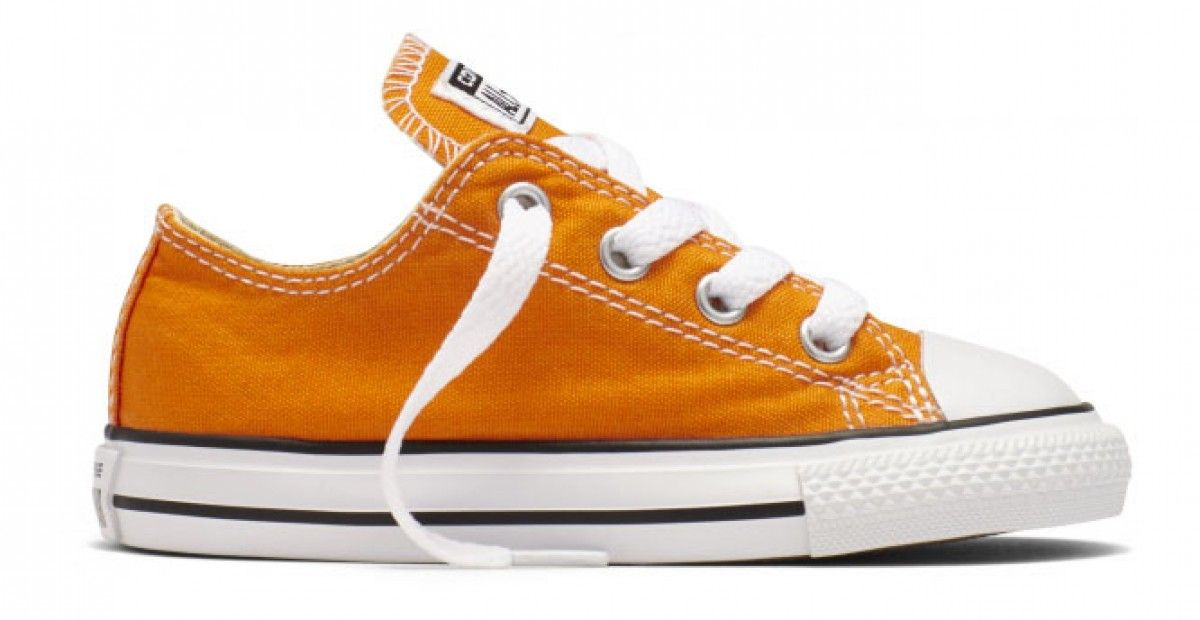 cdbc4c6aaba Converse Toddler Chuck Taylor All Star Seasonal Low Top Vivid Orange ...