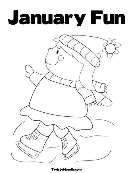 January Fun Coloring Page Preschool Coloring Pages Cool Coloring Pages New Year Coloring Pages