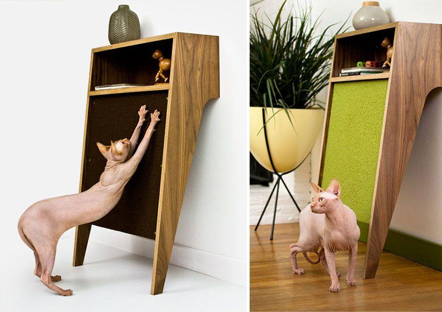 Gatti Mobili ~ Sistema tiragraffi per gatti demoniaci senza pelo utile per