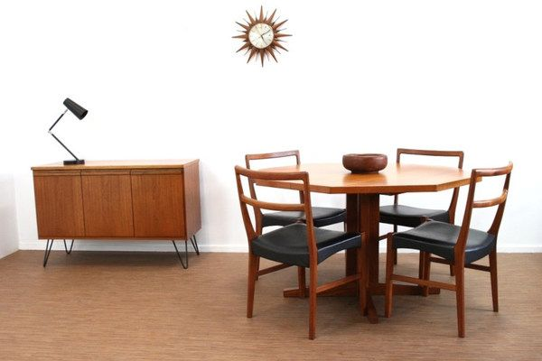 Miraculous Vintage 1970S Teak Dyrlund Dining Table And 4 Danish Chairs Cjindustries Chair Design For Home Cjindustriesco