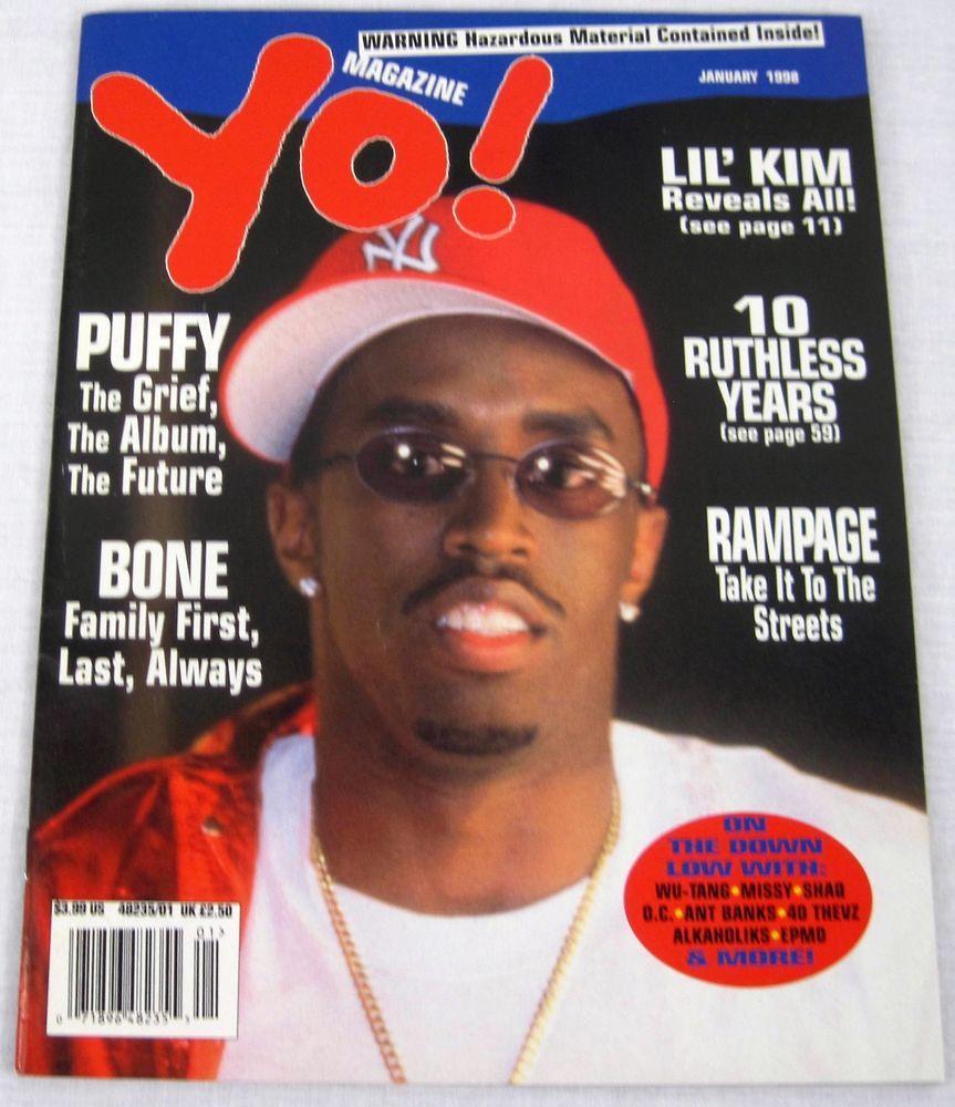Yo Hip Hop Music Magazine January 1998 Tupac Eazy E Bone Thugs Lil Kim Shows ALL
