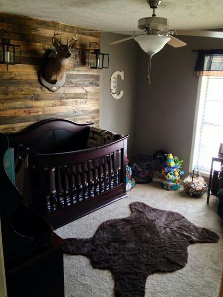 Hunting Lodge Theme Baby Boy Nursery