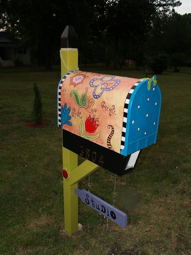 cute idea mailbox painted