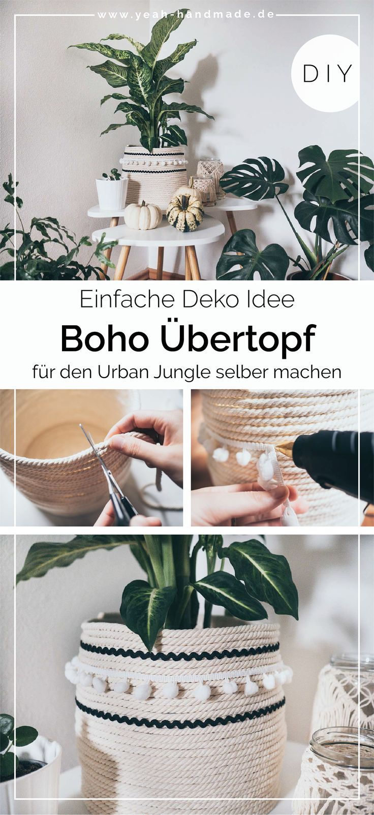 DIY Boho Übertopf selber machen - Yeah Handmade