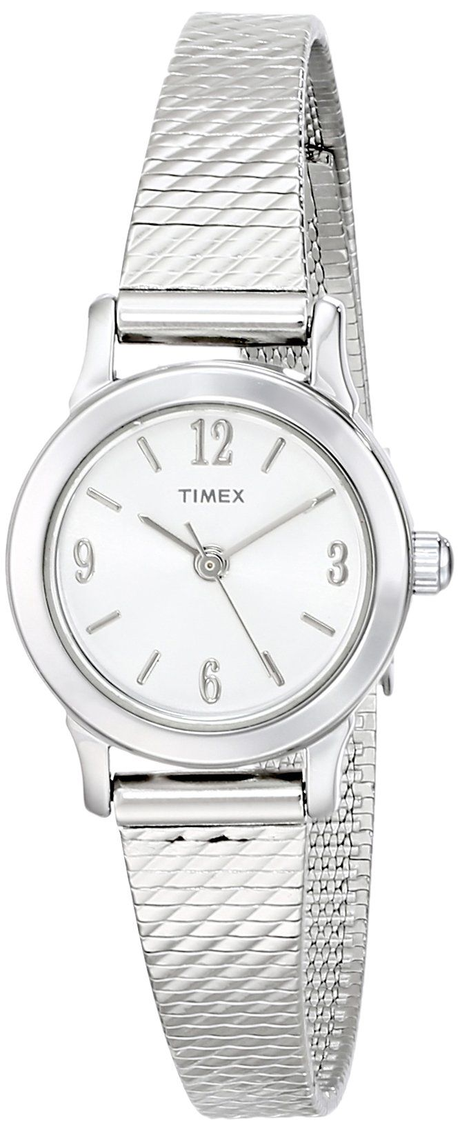 Amazon.com: Timex Women's T2P2999J Silver-Tone Watch with Stainless Steel Bracelet: Timex: Clothing