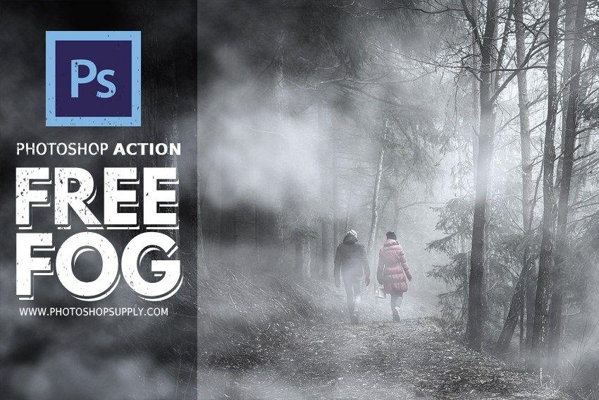 Fog Effect Photoshop Action Free Photoshop Supply In 2020 Free Photoshop Actions Photoshop Actions Photoshop