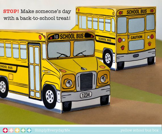 Yellow School Bus Box Back To School Party Favor Box Gift Card