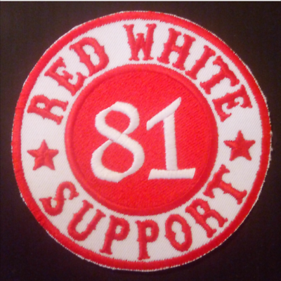 Support Patch RED WHITE 81 SUPPORT Original Hells Angels Support