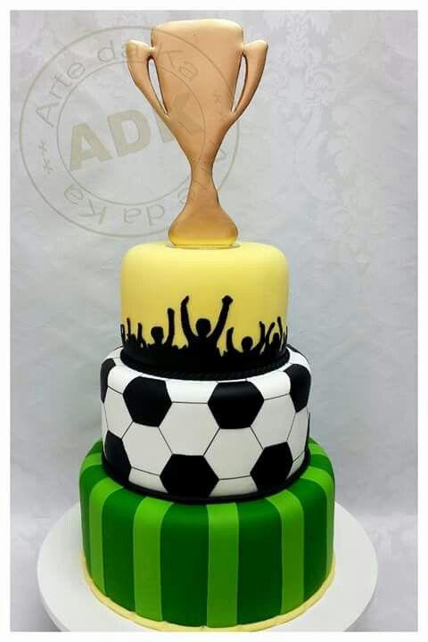 3 tier soccer cake sports desserts football ect pinterest gateau anniversaire - Decoration anniversaire football ...
