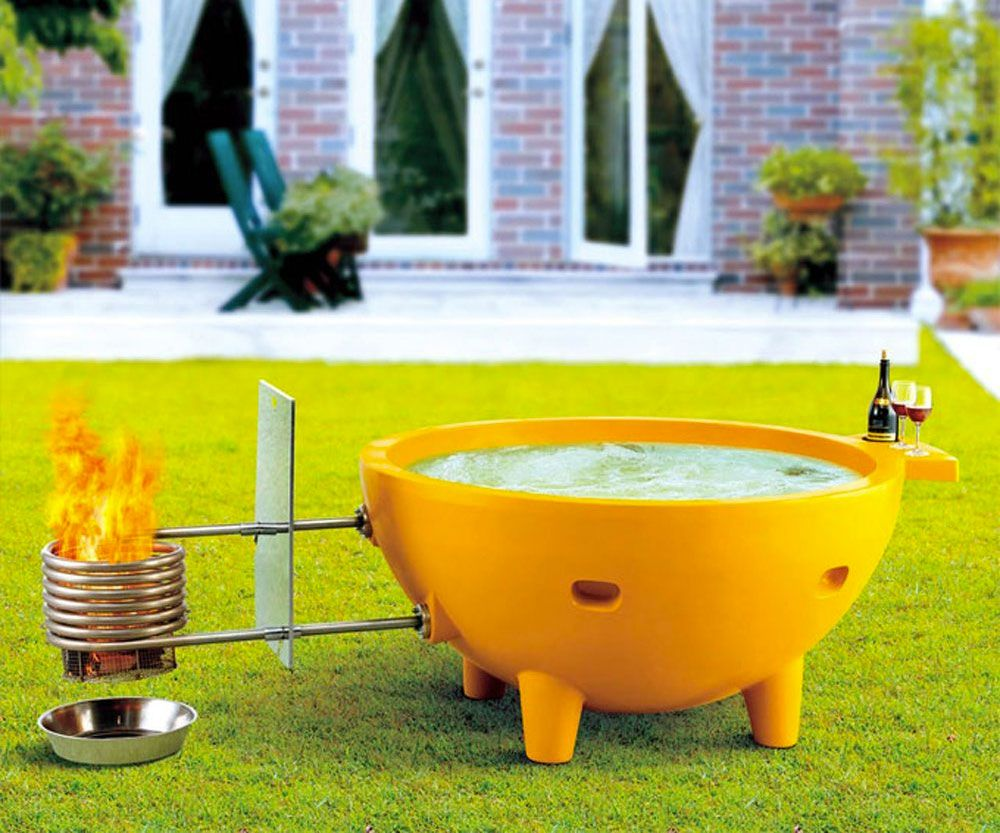 Alfi Wood Burning Hot Tub With Images Hot Tub Outdoor