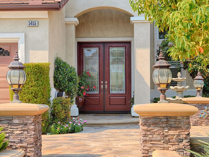This Is Considered Full Glass In A 8 Foot Tall System Classic 8 Foot Tall Double Entry Doors The Entry Doors Residential Front Entry Doors Double Entry Doors
