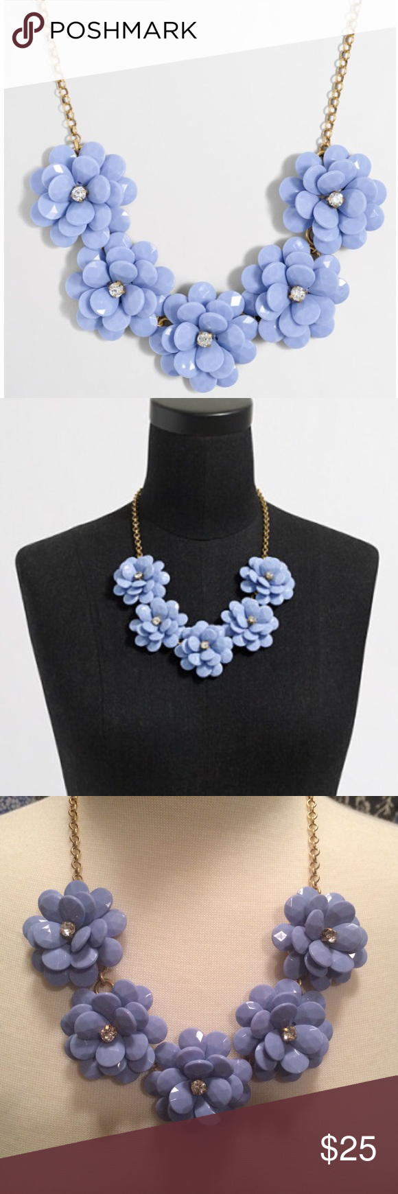 741cd1401fcf37 J Crew Factory Crystal Floral Burst Necklace Hydrangea. NWT, fabric pouch  included. J.Crew Factory Jewelry Necklaces