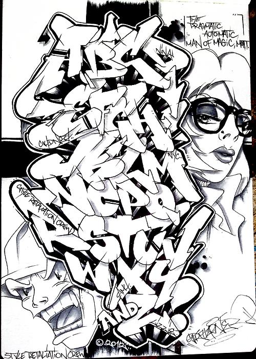 Wildstyle Graffiti Layouts