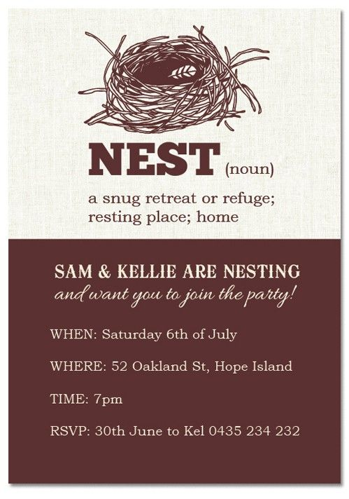 Only 100 each check out our nest noun housewarming check out our nest noun housewarming invitations house warming party stopboris Choice Image