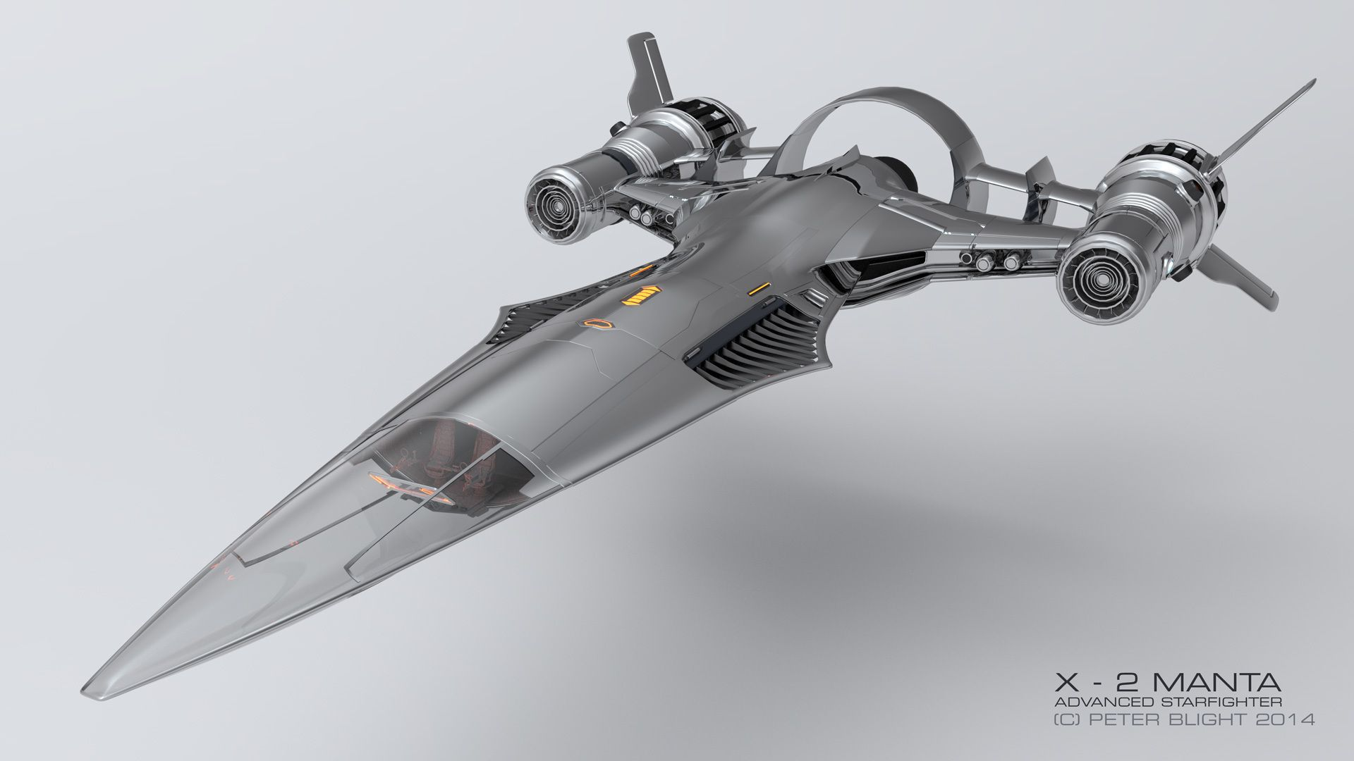 X - 2 MANTA Advanced Starfighter WIP (Now fully armed! :D ...