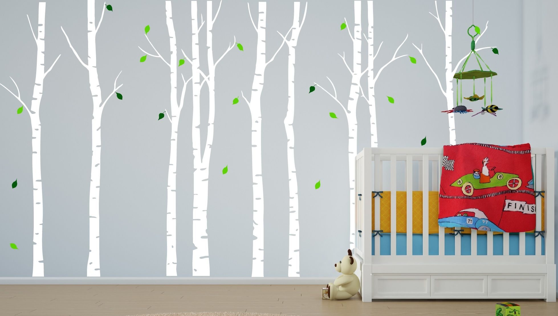 Forest Nursery Tree Baby Furniture Birch Wall Decal