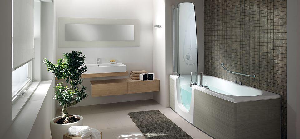 combin bain douche adapt pour personne mobilit r duite l g re pmr pinterest douches. Black Bedroom Furniture Sets. Home Design Ideas