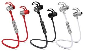 POM Gear Pro2Go Wireless Bluetooth NFC Noise-Canceling Earbuds | Groupon
