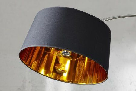 Design Stehleuchte Forma Schwarz Gold Bogenlampe Amazon De Kuche