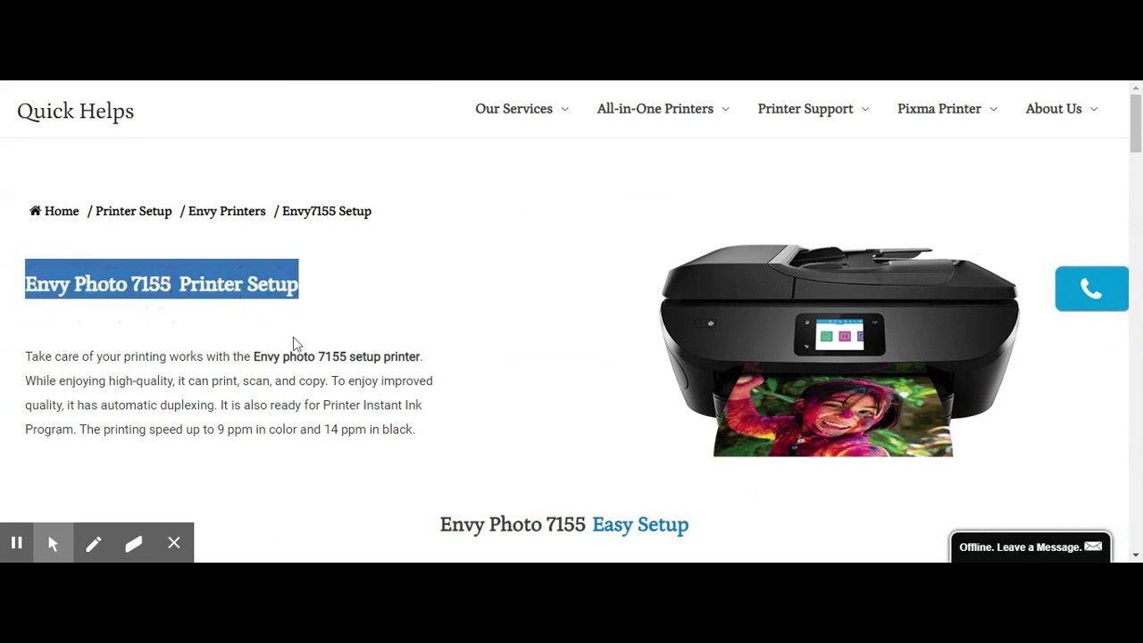 Envy 7155 first time printer setupdriver downloadwifi