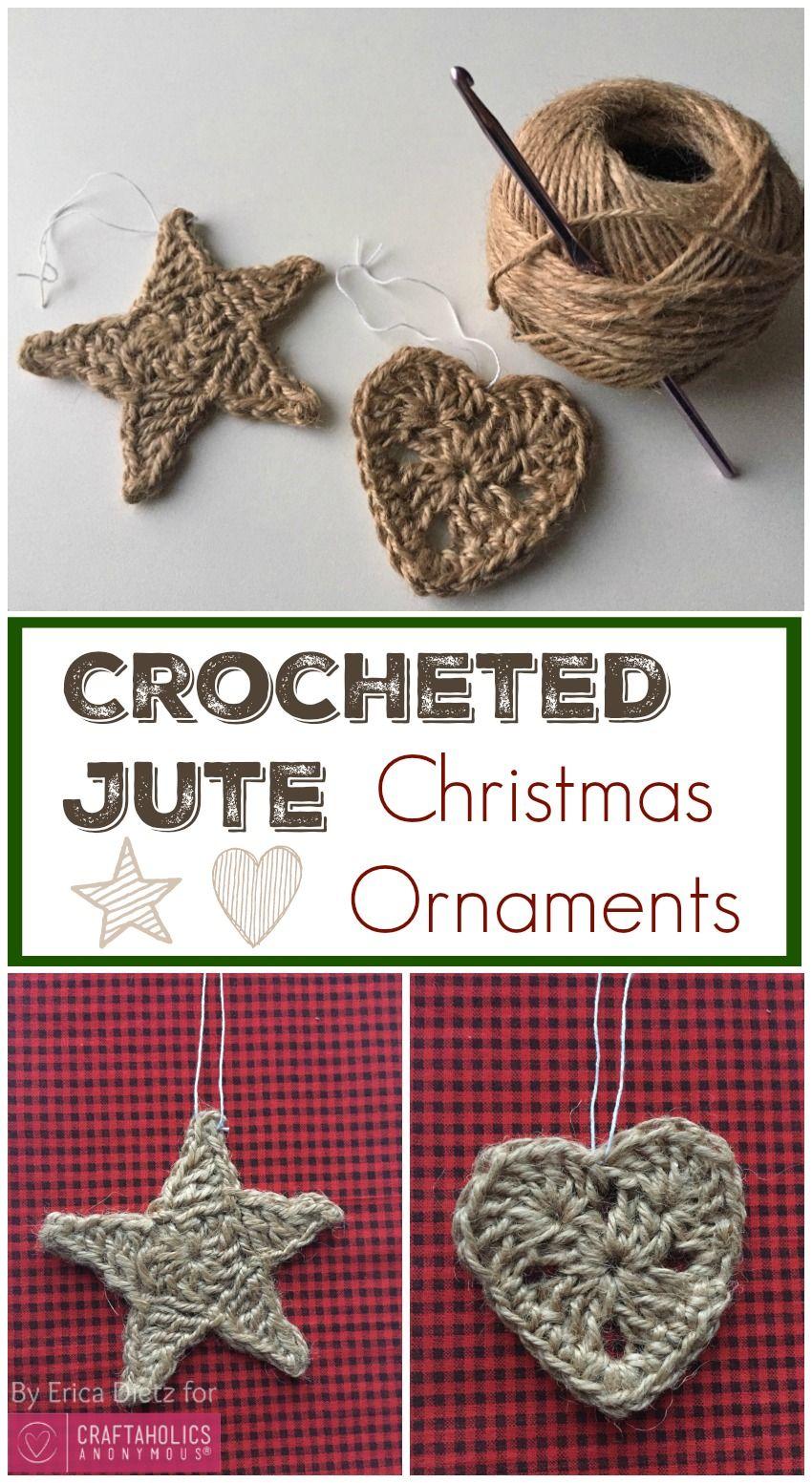 Crocheted Jute Christmas Ornaments | Navidad, Ganchillo y Adornos
