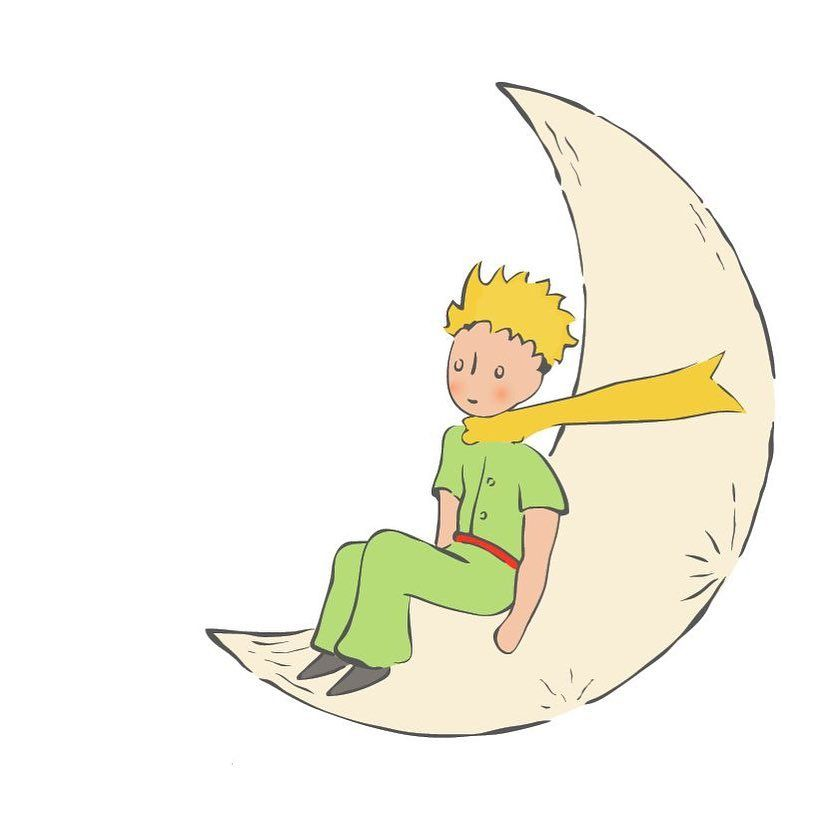 "Le Petit Prince Officiel on Instagram: ""Little Prince in the moon! 🌛  #lepetitprince #thelittleprince #elprincipito #malyprinc… 