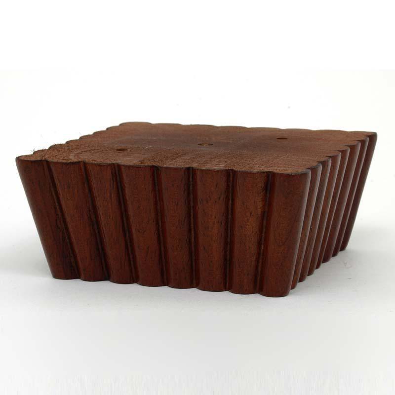 leg daddy 2 dark finish square fluted tapered sofa leg screw mount sofa legs furniture. Black Bedroom Furniture Sets. Home Design Ideas