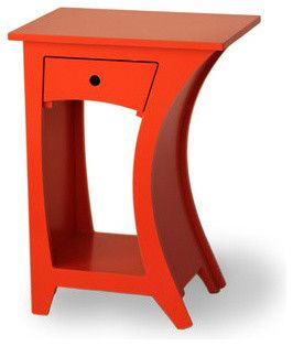 Curved Side Table, Reversible With Drawer   Eclectic   Side Tables And  Accent Tables