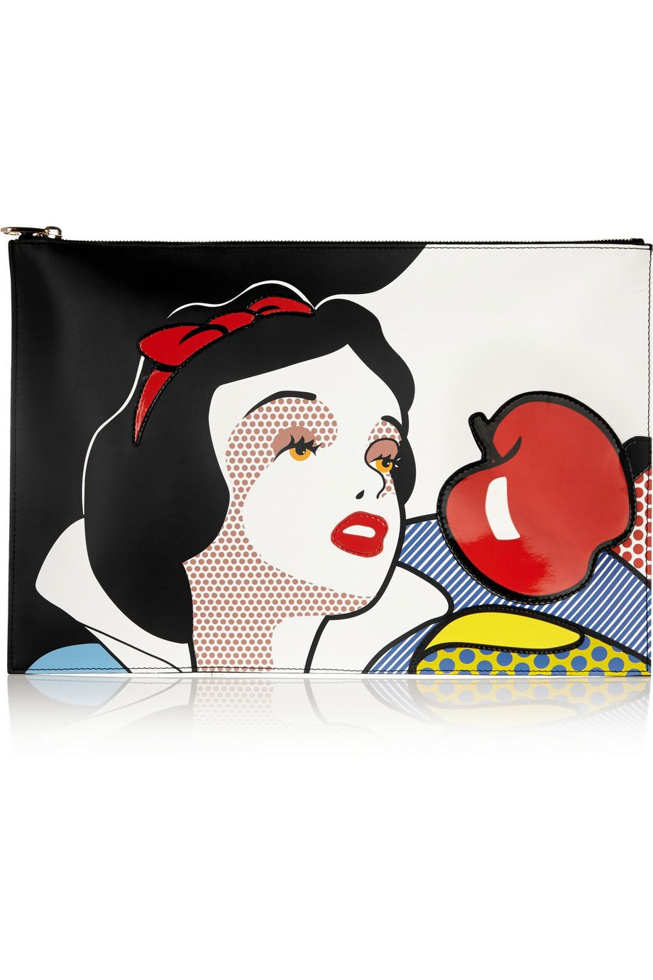 REDValentino | Snow White Disney© leather clutch | NET-A-PORTER.COM | $510