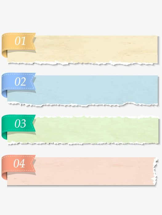 Tear Effect, Colored Ribbon, No PNG Transparent Image and Clipart for Free Download