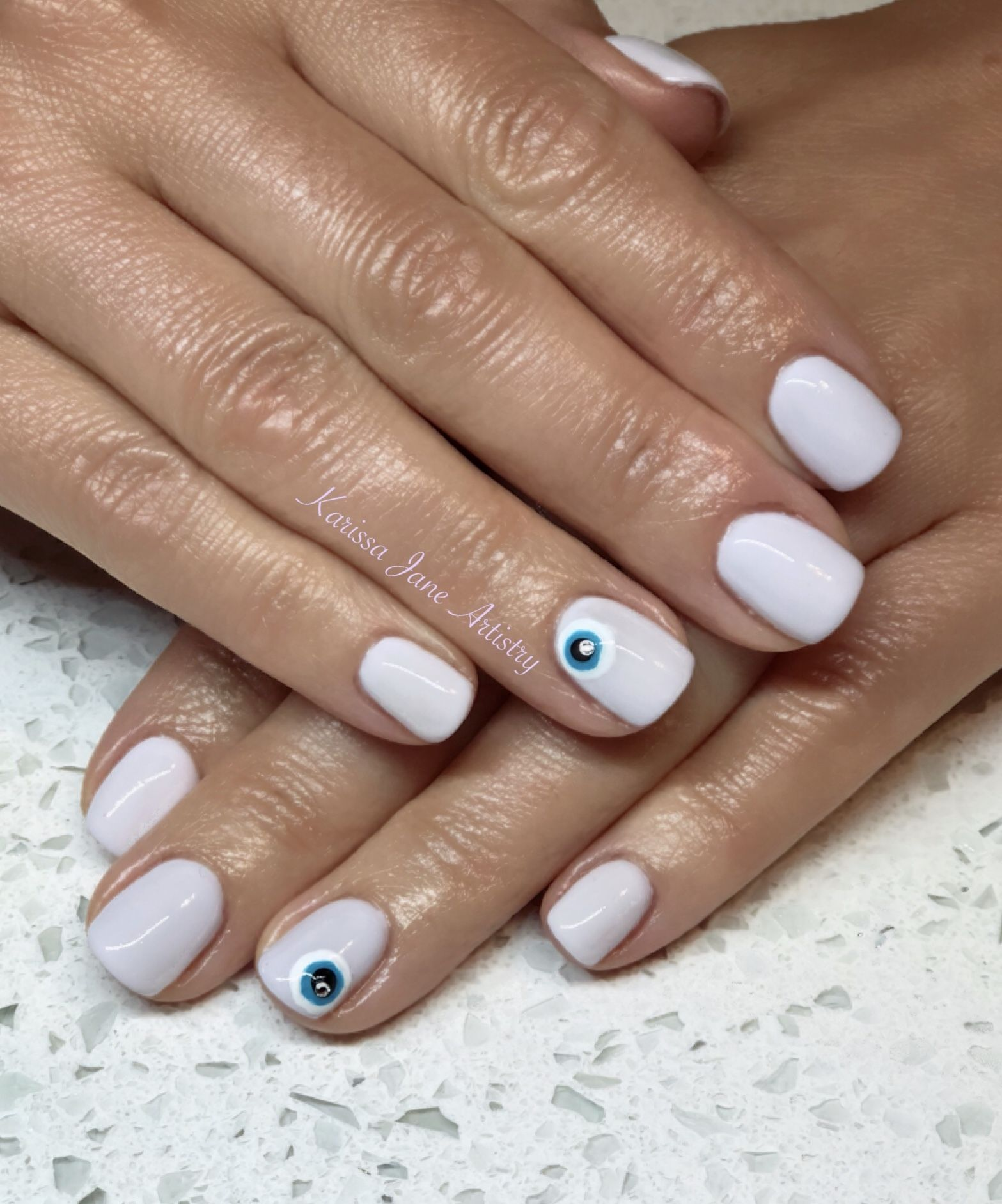 Greek Evil Eye Gel Nails Summer Nail Art Evil Eye Nails Eye Nail Art Turquoise Nails