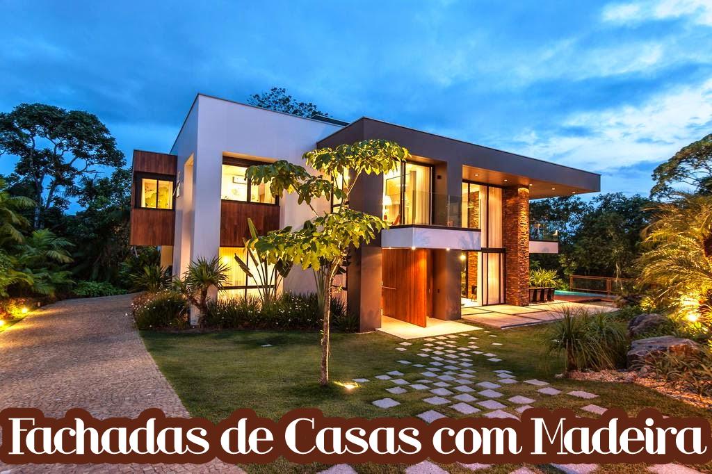 Fachada casa madeira pixels for Casas modernas redondas