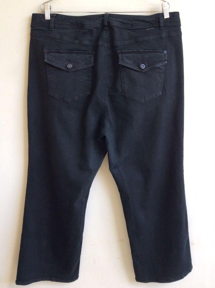 fbc9b93024db INC Boot Leg Jeans Size 22WP Black Denim Pants Slim Tech Fit Petite Women  Plus  INCInternationalConcepts