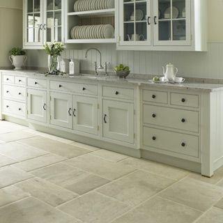 25+ Amazing Kitchen Ceramic Tile Ideas. Stone Kitchen FloorWhite ...