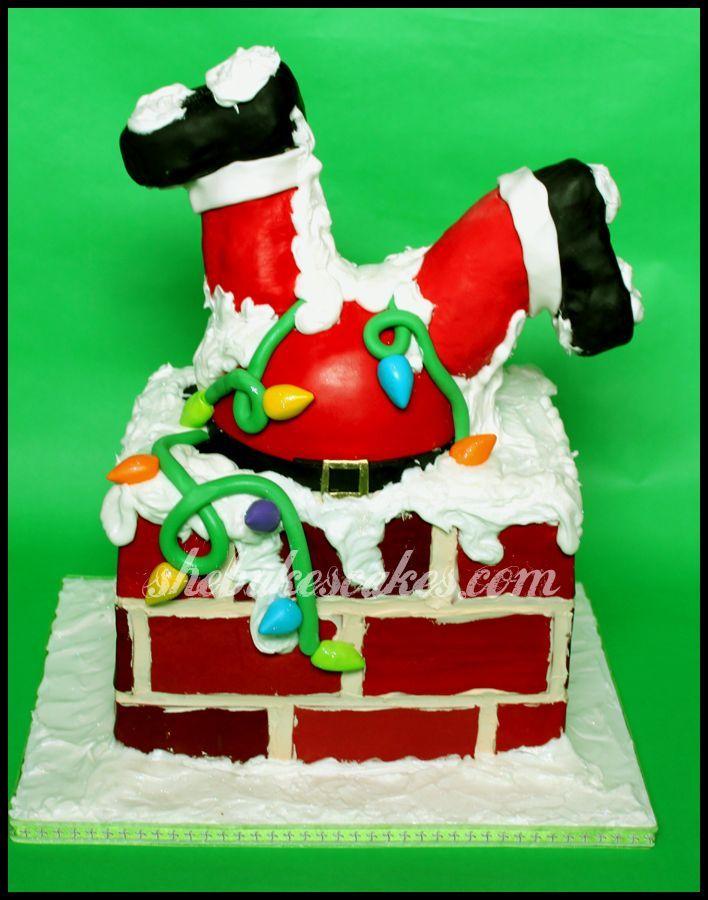 Santa Cake. How cute!