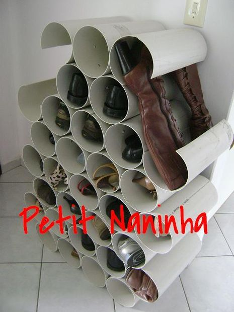 sapateira de canos de pvc pvc pipe cabinet shoes. Black Bedroom Furniture Sets. Home Design Ideas