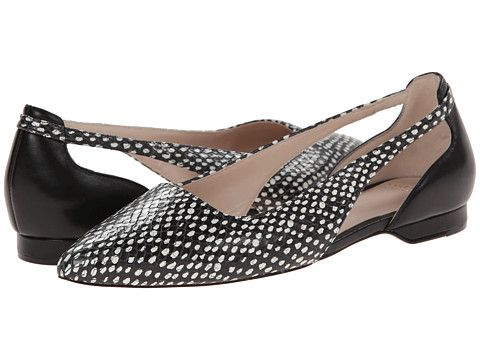 Womens Shoes Cole Haan Amalia Sling Skimmer Black Dot Print/Black