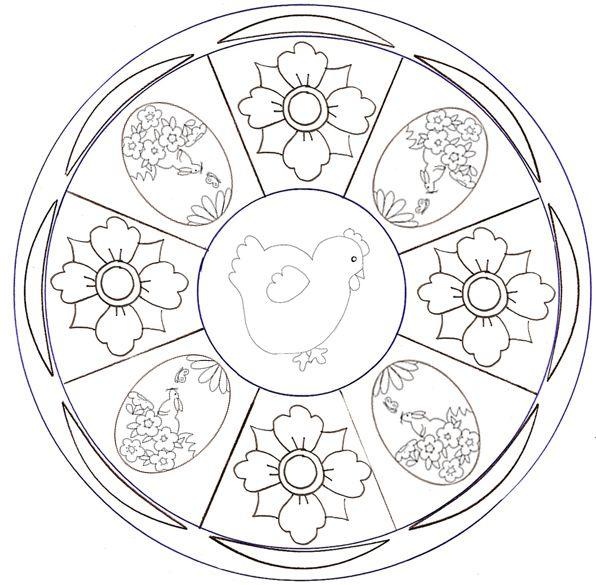Mandala Mandalas De Pques Colorier