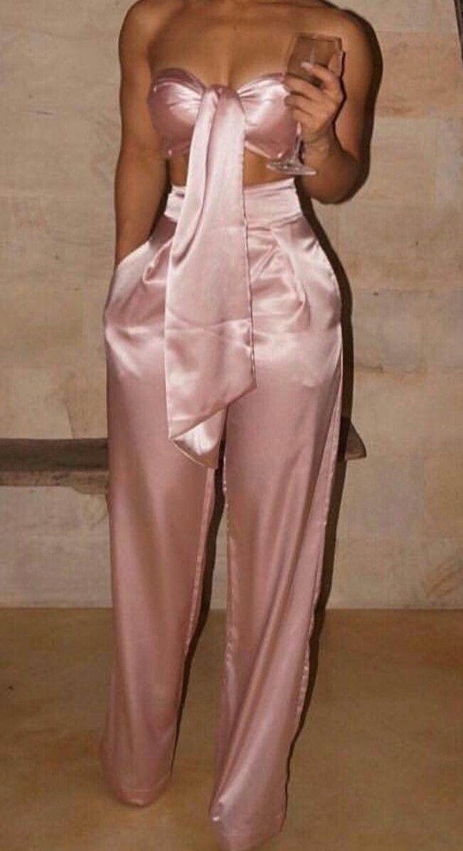 Pink X Slik Two Piece Outfit Follow Lacedior Pinterest Fashion Clothes 19th Birthday Outfit