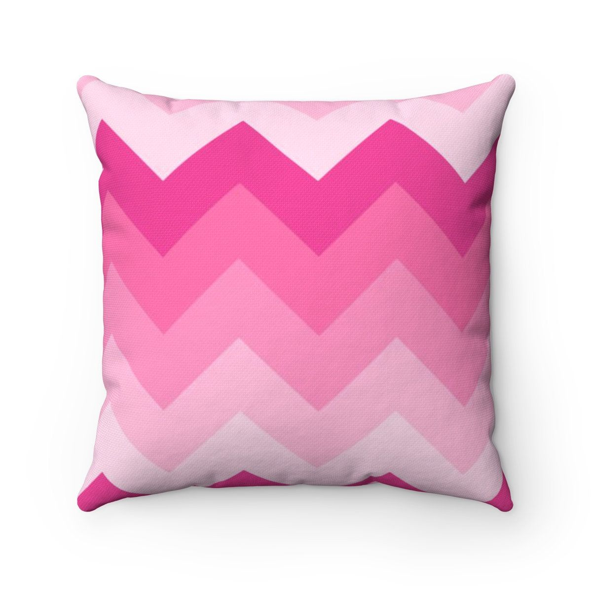 Hot Pink Pillow Chevron Ombre Fade Polyester Square Pillow Girls