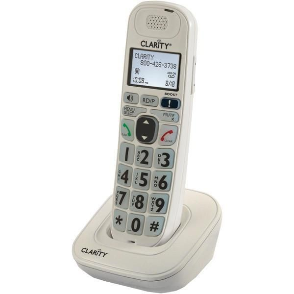 Clarity 53702 000 Dect 6 0 Amplified Cordless Phone System Single Handset System Cordless Telephone Clarity Phone