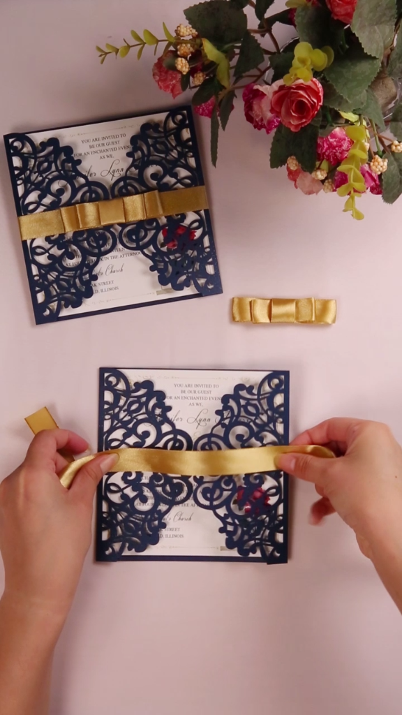 how to make fancy ribbon bow for your wedding invites