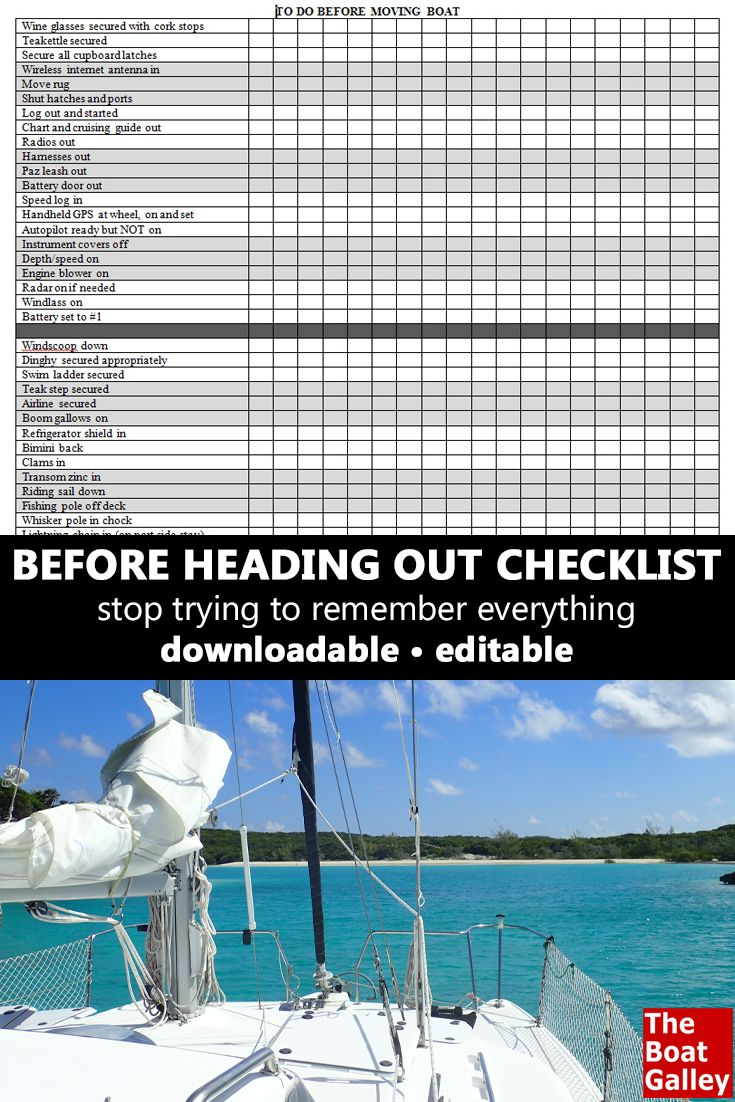 before moving boat checklist forget template and boating
