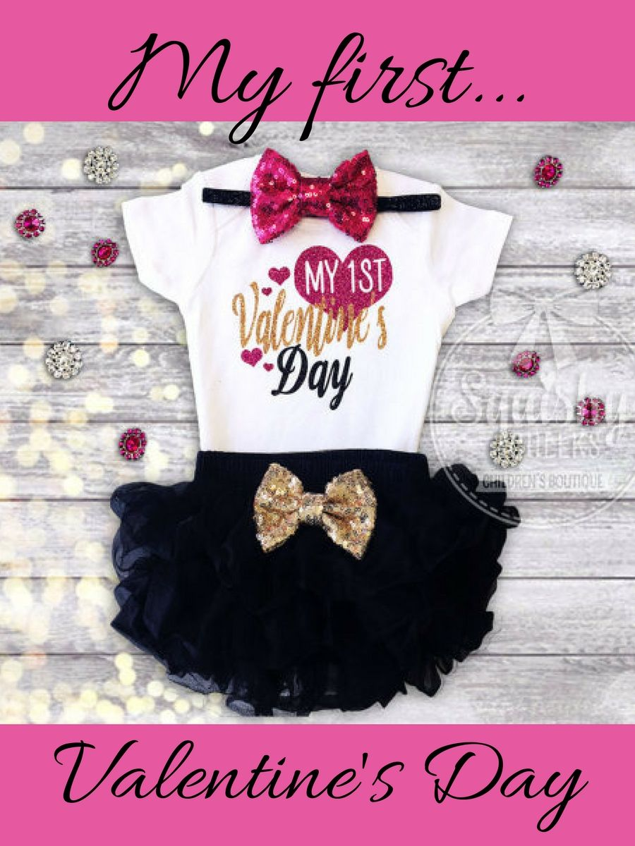 2972d1e2e57f How sweet is this newborn outfit for valentine's day?! baby girl newborn my  first valentines day outfit newborn girl #ad