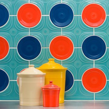 Fiesta Dinnerware Launches Porcelain Tile Collection Fiestaware Kitchen Backsplash