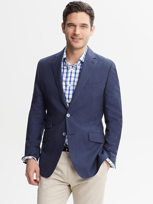 Banana Republic | Tailored Navy Linen-Wool Blazer | Wish List ...