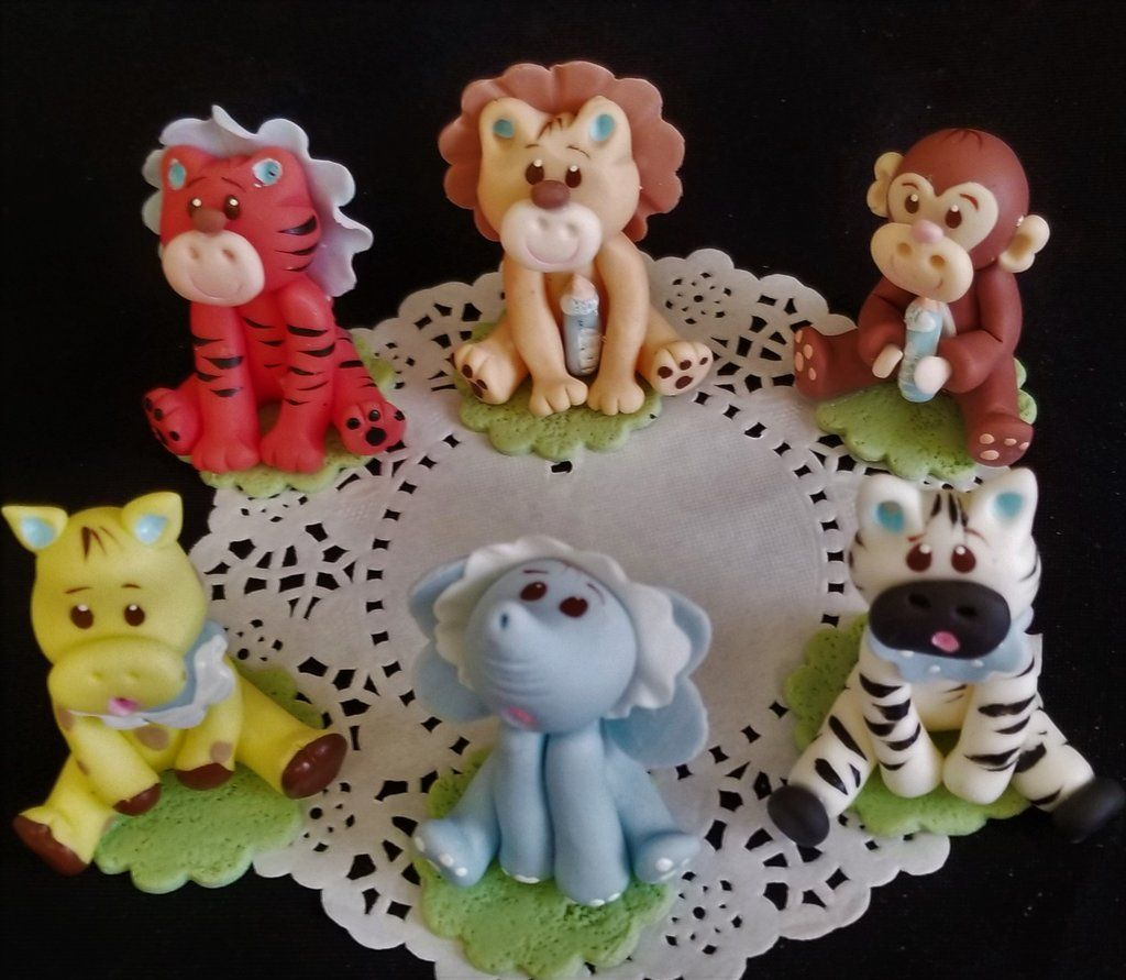 MONKEY BABY SHOWER TOPPER CUPCAKES BIRTHDAY CAKE FAVOR GIFT COLD PORCELAIN