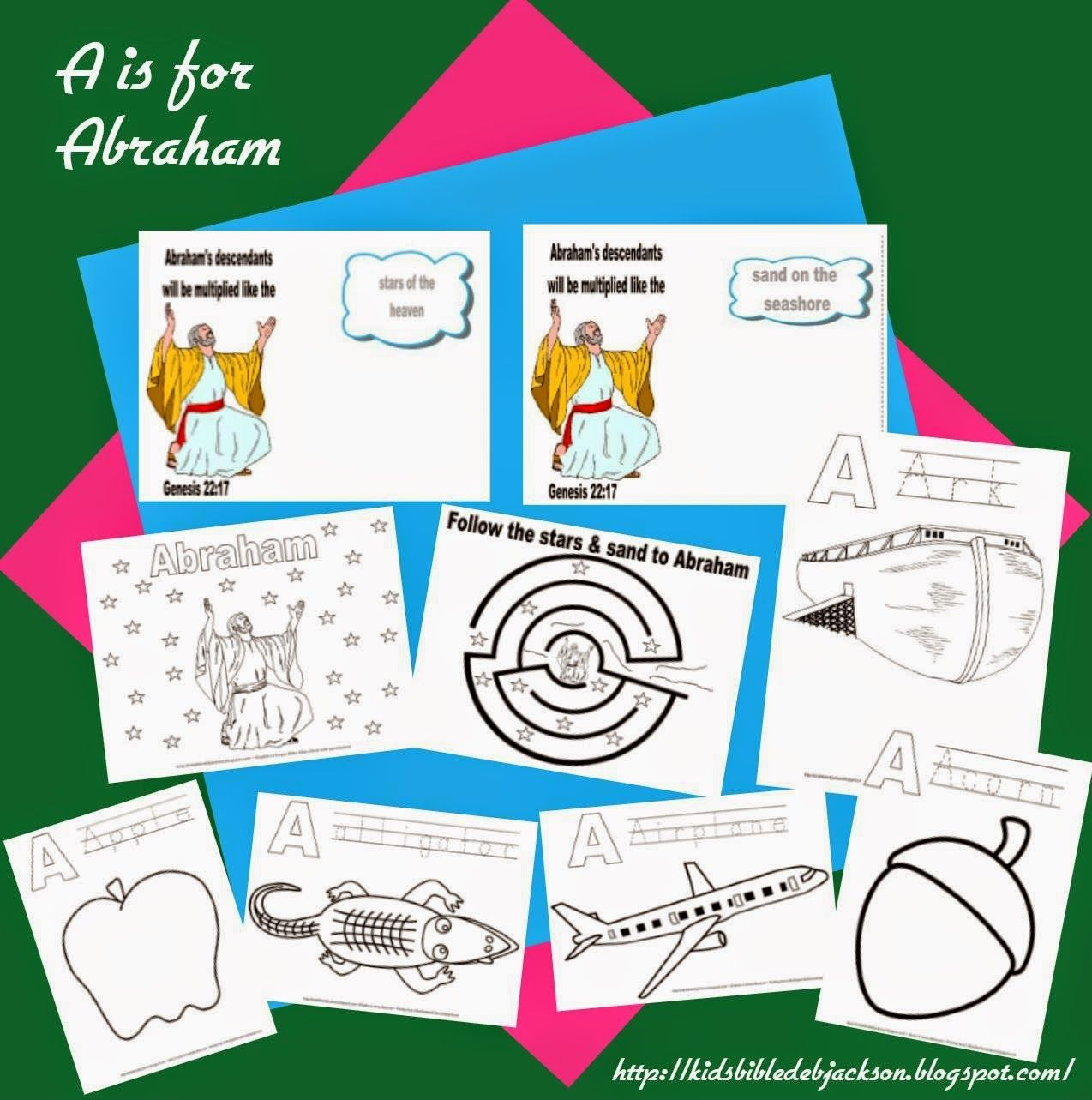 Preschool Alphabet A Is For Abraham
